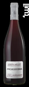 Le Moulingenêt - Vignobles Joseph Mellot - 2017 - Rouge