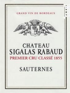 Château Sigalas Rabaud - Château Sigalas Rabaud - 2013 - Blanc
