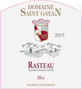 Ilex - Domaine Saint Gayan - 2015 - Rouge