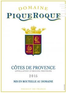 Domaine de PiqueRoque - Domaine de Piqueroque - 2015 - Rouge