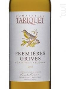 Premières Grives - Château du Tariquet - Famille Grassa - 2019 - Blanc