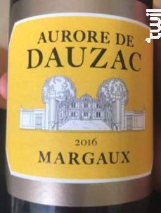 Aurore de Dauzac - Château Dauzac - 5e Cru Classé - 2016 - Rouge