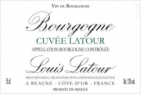 Cuvée Latour - Maison Louis Latour - 2016 - Blanc