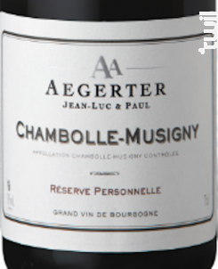 Chambolle-Musigny - Jean Luc et Paul Aegerter - 2011 - Rouge