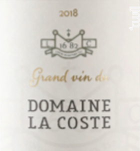 Grand vin blanc - Chateau La Coste - 2018 - Blanc