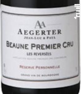 Beaune 1er Cru Les Reversées - Jean Luc et Paul Aegerter - 2016 - Rouge