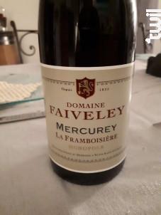 Mercurey La Framboisière Monopole - Domaine Faiveley - 2018 - Rouge