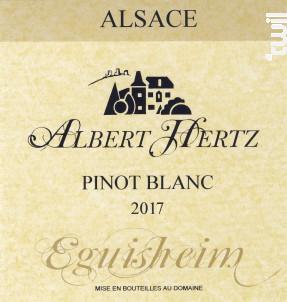 Pinot Blanc - Albert Hertz - 2017 - Blanc