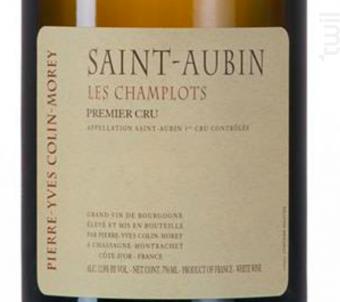 SAINT AUBIN 1ER CRU CHAMPLOTS - Domaine Pierre-Yves Colin-Morey - 2016 - Blanc