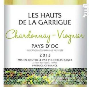 Les Hauts de la Garrigue Chardonnay Viognier - Château Canet - 2017 - Blanc