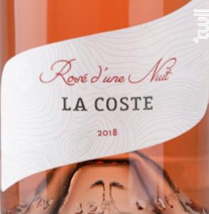 Rosé d'une Nuit - Chateau La Coste - 2018 - Rosé