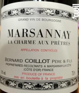Marsannay La Charme aux Prêtres - Domaine Coillot - 2015 - Rouge