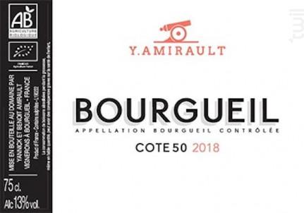 Côte 50 - Domaine Yannick Amirault - 2018 - Rouge
