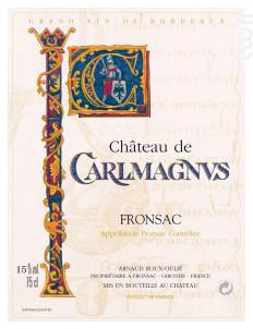 Château Carlmagnus - Château Carlmagnus - 2016 - Rouge