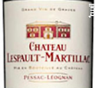 Chateau Lespault Martillac - Château Lespault-Martillac - 2018 - Rouge
