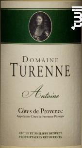 Cuvée Antoine - Domaine Turenne - 2017 - Blanc