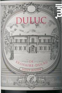Duluc de Branaire-Ducru - Château Branaire-Ducru - 2012 - Rouge