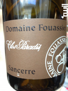 Clos Paradis - Domaine Fouassier - 2019 - Blanc