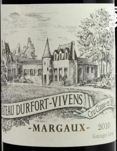Château Durfort-Vivens - Château Durfort-Vivens - 2010 - Rouge