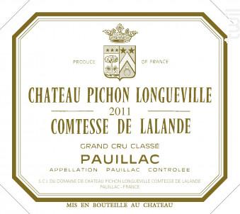 Château Pichon Longueville Comtesse de Lalande - Château Pichon Longueville Comtesse de Lalande - 2011 - Rouge