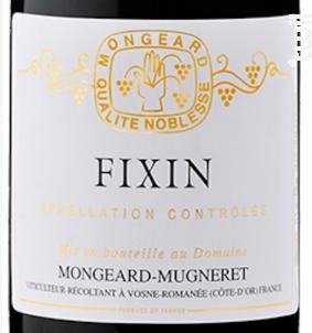 Fixin - Domaine Mongeard-Mugneret - 2015 - Rouge