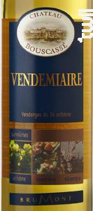 Vendémiaire 50cl - Château Bouscassé - 2017 - Blanc