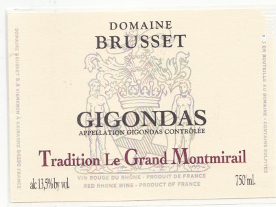 Tradition Le Grand Montmirail - Domaine Brusset - 2017 - Rouge