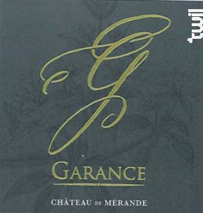 Garance - Château de Mérande - 2017 - Blanc