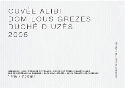 Alibi - Domaine Lous Grezes - 2014 - Rouge