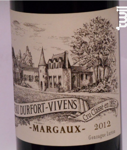 Château Durfort-Vivens - Château Durfort-Vivens - 2012 - Rouge
