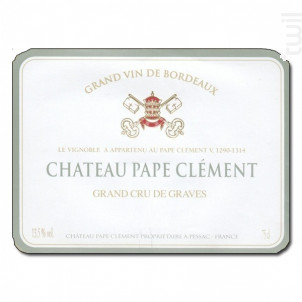 Château Pape Clément - Château Pape Clément - 2016 - Blanc