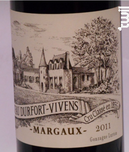 Château Durfort-Vivens - Château Durfort-Vivens - 2011 - Rouge