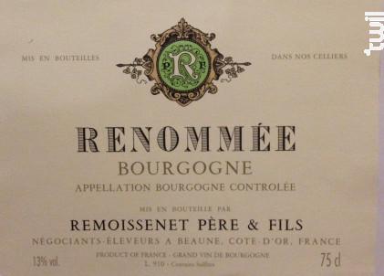 Bourgogne Renommée - Remoissenet - 2014 - Blanc