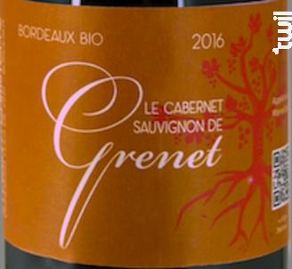 Le Cabernet-Sauvignon de Grenet - Sylvain & Christophe, vignerons fous de vins - 2018 - Rouge