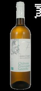 Entre deux mers - Elevé en fût de chêne - Château Pourquey Gazeau - 2018 - Blanc