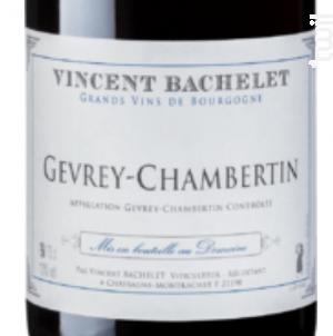 Gevrey-Chambertin - Domaine Vincent Bachelet - 2015 - Rouge
