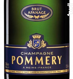 Brut Apanage - Champagne Pommery - Non millésimé - Effervescent