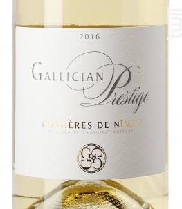 GALLICIAN PRESTIGE - La Cave de Gallician - 2016 - Blanc