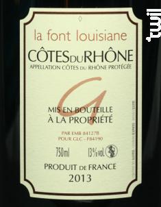 La Font Louisiane - Gigondas La Cave - 2015 - Rouge