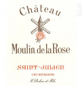 Château Moulin de la Rose - Vignobles Delon- Château Moulin de la Rose - 2015 - Rouge