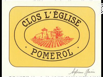 Clos l'Eglise - Vignobles Garcin- Château Clos de l'Eglise - 2015 - Rouge