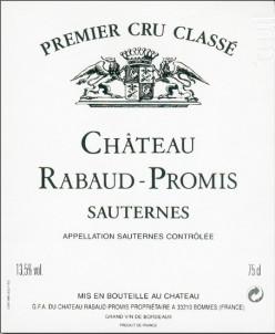 CHÂTEAU RABAUD PROMIS - Château Rabaud-Promis - 2003 - Blanc