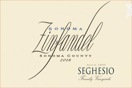 Sonoma- Zinfandel - SEGHESIO - 2018 - Rouge