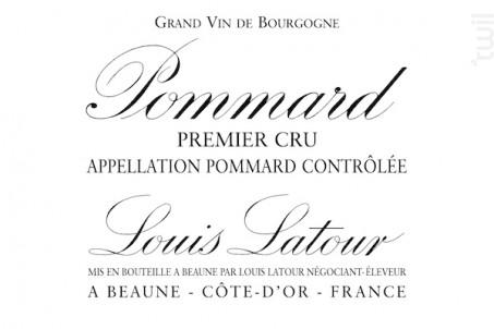 Pommard 1er Cru - Maison Louis Latour - 2012 - Rouge
