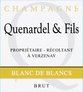 Blanc de Blancs - Champagne Quenardel et Fils - Non millésimé - Effervescent