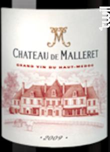 Château de Malleret - Château de Malleret - 2016 - Rouge