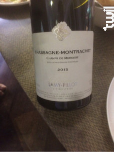 Chassagne-Montrachet Champ de Morgeot - Domaine Lamy-Pillot - 2015 - Rouge