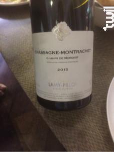 Chassagne-Montrachet  1er Cru Champ de Morgeot - Domaine Lamy-Pillot - 2015 - Rouge