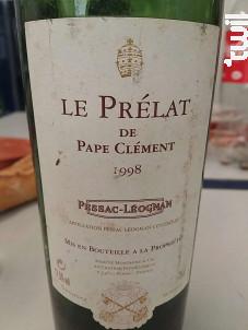 Le Prélat de Pape Clément - Château Pape Clément - 1999 - Rouge