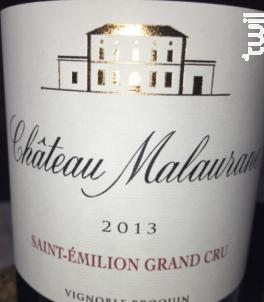 Château Malaurane - Château Malaurane - 2013 - Rouge